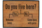Funny Doormat Novelty Door Mat Birthday Home Office - do you live here