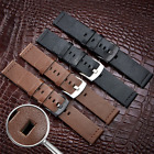 22mm Genuine Leather Wrist Watch Band Replacement Quick Release Pin Watch Strap image