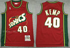 New Men's Seattle Supersonics #40 Shawn Kemp Basketball Jersey Retro Red on eBay