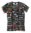 All rock t-shirt - best bands greatest rock and roll groups famous names logo