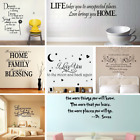 Vinyl Word Quote Family Wall Stickers Mural Home Bedroom Living Room Art Decal
