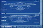 STAR TREK Blueprint USS Enterprise NCC-1701-D Art Silk Poster 24x36 24x43 on eBay