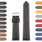 StrapsCo Classic Mens Leather Watch Band - Quick Release Men's Strap image