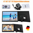 "8""/10""/12""Zoll Digitaler Bilderrahmen Alarm MP3 MP4 Media Video Film Player"