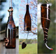 Amber and Copper Bird Feeder and Wind Chime Set - Gift for Mom - Deck Decor photo