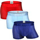 Men Ice silk Breathable Boxer Briefs Pouch Underwear Shorts Trunks Underpants US