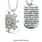 Jeremiah 29:11 Dog Tag Necklace | Fine Pewter | Made in the USA | FREE Shipping image
