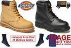 MENS Dickies CLEVELAND SAFETY WORK BOOT SIZE BLACK BROWN HONEY