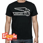 DUCATI MOTO WING BLACK TSHIRT SMALL, MEDIUM, LARGE, XL, XXL