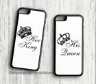 Premium King and Queen His and Her Phone couples cases Samsung s3-s9 iphone 4-X