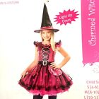 Witch Twinkle Lights Up Dress Med 8-10 Girls Halloween Costume Pink or Purple