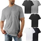 Mens Pocket T Shirt Short Sleeve Basic Tee Premium Cotton Crewneck Lightweight image