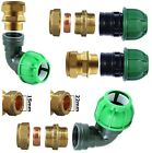 15MM OR 22MM COMPRESSION COPPER TO 20M OR 25MM MDPE PIPE CONVERTER ELBOW JOINER