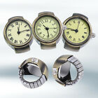 Women Vintage Punk Round Alloy Quartz Finger Ring Watch Watches Eager Lot Soft