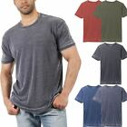 Mens Burnout Short Sleeve T Shirts Soft Faded Vintage Basic Crew neck Tee Casual image