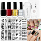 5Pcs/Set Nail Art Stamping Plates Nail Polish Stencils Templates  Tools