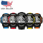 Unisex Digital LED Sports Watch Silicone Band Wrist Watches Men Children-US ship image