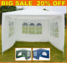 Waterproof 3x3m Gazebo Outdoor Patio Garden Marquee Canopy Party Tent With Sides