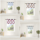 Внешний вид - 1PC Tier Valance Kitchen Geometric Design Blackout Grommet Window Curtains  7LO
