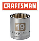 "Craftsman Easy Read 12 Point Socket 1/2 or 3/8"" Drive Shallow or Deep mm or SAE"