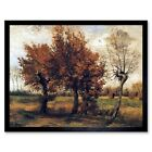 Vincent Van Gogh Autumn Landscape With Four Trees 1885 Painting Framed Art Print