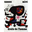 Advert Charity Unesco Joan Miro Abstract Rights Man 12X16 Inch Framed Art Print