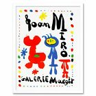 Advert Exhibition Cultural Joan Miro Paint Surrealism 12X16 Inch Framed Print