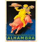 Advert Food Alhambra Ham Sausage Pork Pig Chef France 12X16 Inch Framed Print
