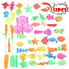 New Bath Toys For Kids Fishing Magnetic Toys Floating Fishing Game Suit US