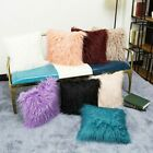 Us Square Throw Fur Fluffy Sofa Pillow Cases Soft Plush Cushion Cover Home Decor