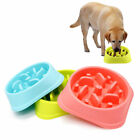 Pet Dog Cat Puppy Slow Down Eating Feeder Feed Bowl Food Water Dish 20.3*4.6cm