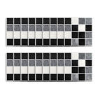 Kitchen Bathroom Tile Mosaic Stickers Self-adhesive Waterproof Home Wall Decor