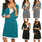 Maternity Nursing Lace Delivery Nightgowns Tracksuit Breastfeeding Casual Dress