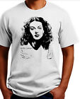 Hedy Lamarr T-shirt. Size: S-XXL. All cotton. Free Shipping to USA image