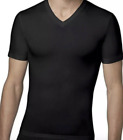 NIB SPANX Cotton Compression V- Neck T-Shirt White 607 Black  Men's Size XL XXL
