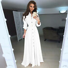 US Women Long Sleeve Button Dowm Maxi Dress Evening Party Casual Shirt Dress <br/> ❤US STOCK ❤FAST DELIVERY ❤EASY RETURN❤High Quality
