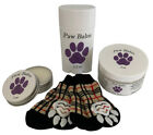 Dog paw balm, moisturizer for paws & noses, protection with socks