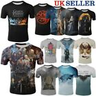 Adult Kids T-Shirt Game Of Thrones 8 Short Sleeve Tee 3D Print Cosplay Tops Gift
