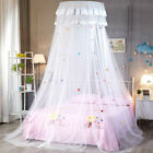 Breathable Lace Bed Mosquito Netting Mesh Canopy Princess Round Dome Bedding Net image