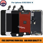 For iPhone 5C/5S/6/X LCD Splash Touch Screen Digitizer Assembly Replacement Lot