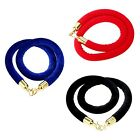 59Inch Velvet Barrier Rope Crowd Control Stanchion Post Queue Black/Red/Blue US