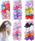 6pcs/set JOJO SIWA Rainbow Unicorn Hair Bow Clip Bowknot Gift for Girl Kids
