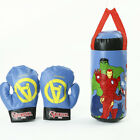 Avengers Child Boxing Gloves Set Spiderman Filled Punching Bag Training Toy Gift