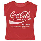 Coca Cola Women's Drink 1886 Distressed Retro Roll Sleeve T-Shirt Official £4.99  on eBay