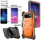 For Samsung Galaxy S8/S9/S10/S10+ Case With Kickstand Belt Clip+Screen Protector