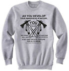 AMERICAN NATIVE INDIAN AWARENESS IN NATURE - COTTON GREY SWEATSHIRT- ALL SIZES