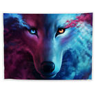 Galaxy Wolf Wall Hanging Tapestry Psychedelic Bedroom Home Poster