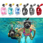 Anti Fog Full Face Snorkel Mask Swimming Dive Scuba Goggles Adult Kids For GoPro