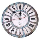 Quartz Wall Clock Style Tuscan Vintage Retro French Wood 11 13/16in