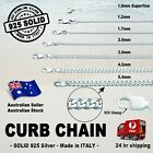 Curb Chain - 100% Solid 925 Sterling Silver (options)